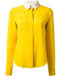 Chloé Contrast Collar Shirt - Lyst