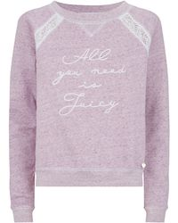 Juicy Couture Lace Panel Pyjama Top - Lyst