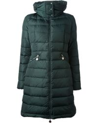 Moncler 'Flamme' Padded Coat - Green