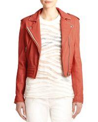 IRO Leather Moto Jacket - Lyst