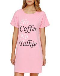 Sleeptease   No Coffee Sleepshirt   Lyst