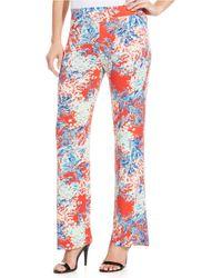 Karen Kane Tropical-print Pants - Lyst