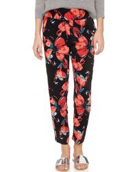 Ella Moss - Fiore Floral Trousers - Lyst