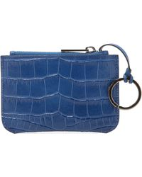 Vince - Croc Embossed Coin Pouch - Lyst