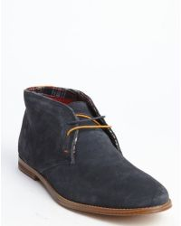 Ben Sherman Navy Blue Suede 'Bailey' Chukka Boots - Lyst