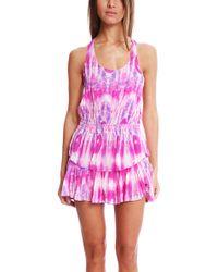 Loveshackfancy Jellyfish Crepe Ruffle Racer Dress - Lyst