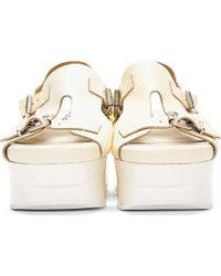 Acne Studios | Butter Yellow Aimi Platform Sandals | Lyst