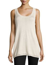 Donna Karan New York Tank-Style Silk/Cashmere Sweater - Lyst