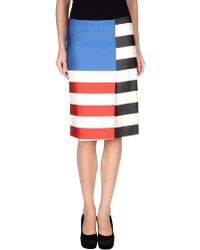 Acne Studios Knee Length Skirt multicolor - Lyst
