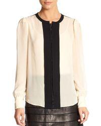 Diane Von Furstenberg Etta Silk Shirt - Lyst