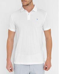 Hackett   White Tailored Logo Polo Shirt   Lyst