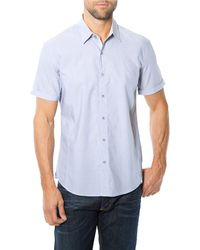 7 Diamonds Paradise On Earth Dotted Micro Stripe Sport Shirt - Lyst