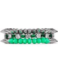 Venna - Crystal Spike Bracelet - Lyst