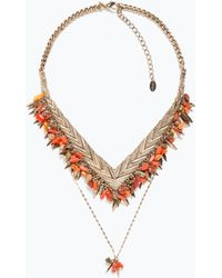 Zara Colored Stone Necklace - Lyst