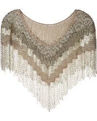 Haute Hippie Embellished Shawl silver - Lyst