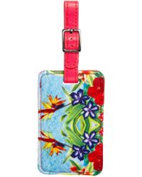 ASOS Neoprene Tropical Printed Luggage Tag - Multicolor