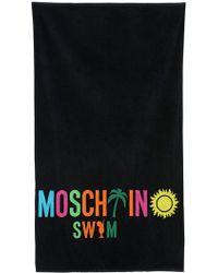 Moschino Moschino Swim Cotton Beach Towel - Black