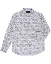 Paul Smith White Oddities Print Button-Down Collar Shirt - Lyst