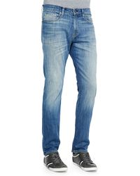 J Brand Faded Straight Denim Jeans - Lyst