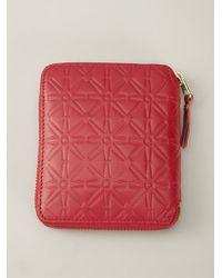 Comme Des Garçons 'Colour Embossed A' Zip-Around Wallet - Lyst