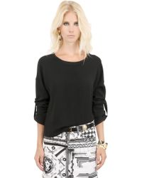 Anthony Vaccarello X Versus Versace Techno Viscose Cady Top - Lyst