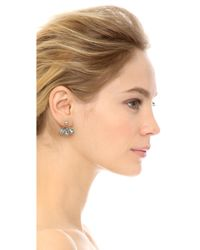 Adia Kibur - Steph Earrings - Silver/Clear - Lyst