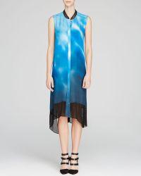 Elie Tahari Deanna Wave Print Shirt Dress - Lyst