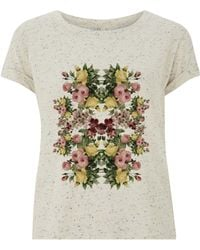 Ultra Tee - Speckled Rolled Sleeve T-shirt Flowers - Lyst