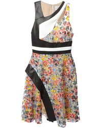 Prabal Gurung Embroidered Panelled Dress - Lyst