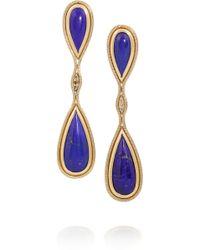 Fernando Jorge 18karat Rose Gold Diamond and Lapis Lazuli Earrings - Lyst