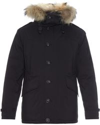 Burberry Brit | Down-filled Quilted Fur-trim Parka | Lyst