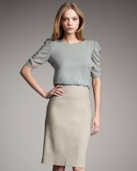 Theory Icon - Linen Pencil Skirt 6 - Lyst