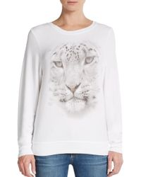 Wildfox Snow Leopard Graphic Top - Lyst