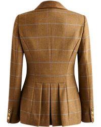 Joules Arabella Check Tweed Jacket - Brown