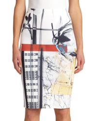 Clover Canyon Printed Neoprene Pencil Skirt - Lyst