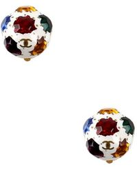 Chanel Pre-Owned Multi Stone White Earring multicolor - Lyst