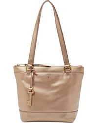 Fossil | Gifting Solid Leather Small Shopper | Lyst