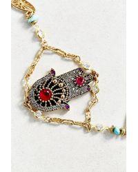 Vanessa Mooney Hand Of Fatima Bracelet gold - Lyst