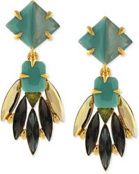 Vince Camuto - Gold-Tone Multicolour Stone Cluster Drop Earrings - Lyst