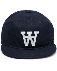 WOOD WOOD | Navy W Wool Cap | Lyst