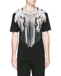 Marcelo Burlon 'Rawson' Print T-Shirt white - Lyst