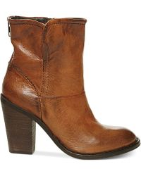 Steven By Steve Madden Earla Moto Booties - Lyst