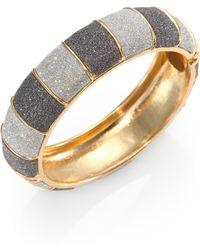 ABS By Allen Schwartz - Glitter Bangle Bracelet - Lyst