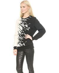 Gareth Pugh Printed Sweatshirt  Blackwhite - Lyst
