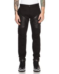 Givenchy Men'S Denim Moto Jean With Leather Inserts - Lyst