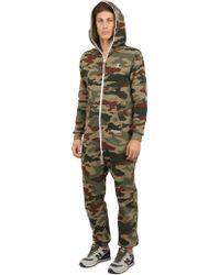 OnePiece - Techno Cotton Camouflage Jumpsuit - Lyst