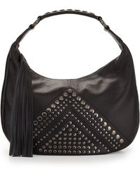 Isabella Fiore - Bellmore Studded Leather Hobo Bag - Lyst