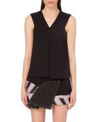Opening Ceremony Moodie Crepe Top - For Women - Lyst
