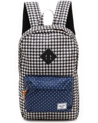 Herschel Supply Co. Heritage Mid Volume Backpack  Houndstooth and Navy Polka Dot - Lyst