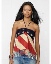Denim & Supply Ralph Lauren American Flag Halter Top - Lyst